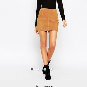 Asos Tall Suede Mini Skirt
